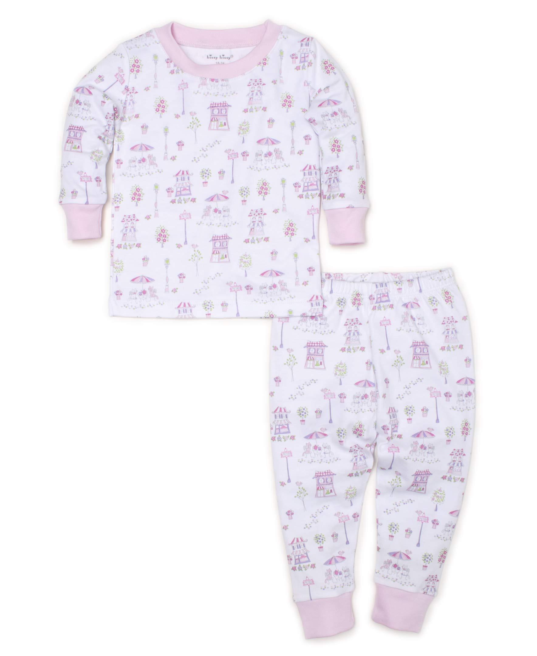 Kissy Kissy Baby-Girls Infant Parisian Promenade Print Long Pajamas Set-Pink-18-24 Months by Kissy Kissy