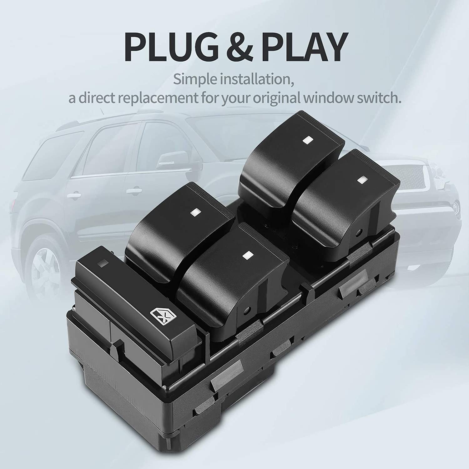 Power Window Switch Driver Side Master 20945224 for 2007-2016 GMC Acadia