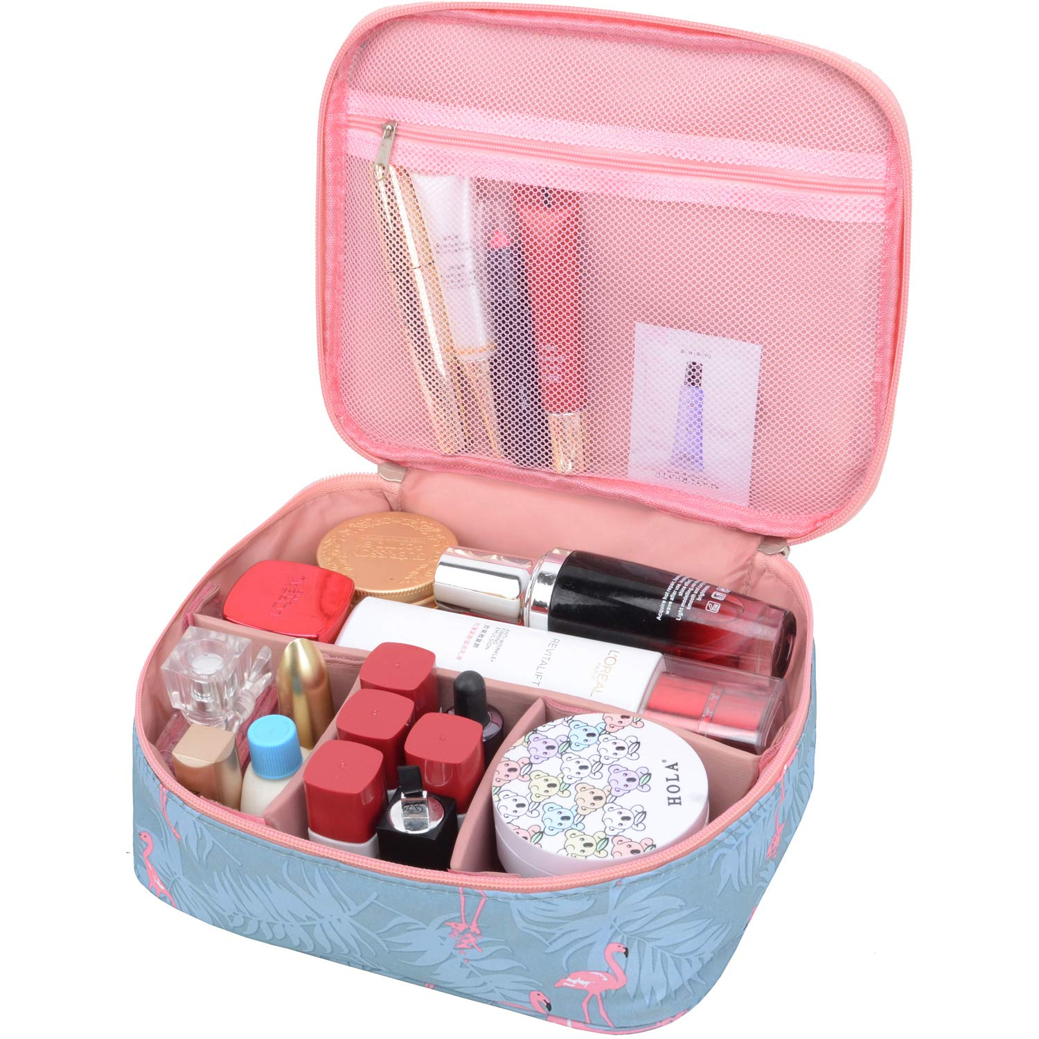 MKPCW Portable Travel Makeup Cosmetic Bags Organizer Multifunction Case for Women (Color1)