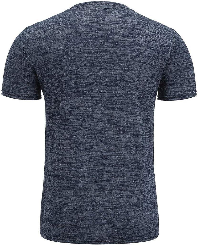 waotier Camiseta De Manga Corta para Hombre Camiseta BotóN Casual ...