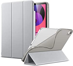 ESR Slim Smart Case for iPad Air 4 2020 10.9 Inch [Auto Sleep/Wake Cover] [Viewing/Typing Stand Modes] [Flexible TPU Back] Rebound Series - Grey