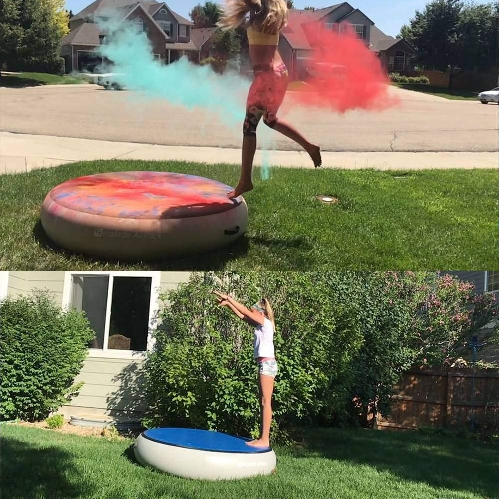 Sinolodo Round Air Spot Inflatable Round Springboard for Gymnastics