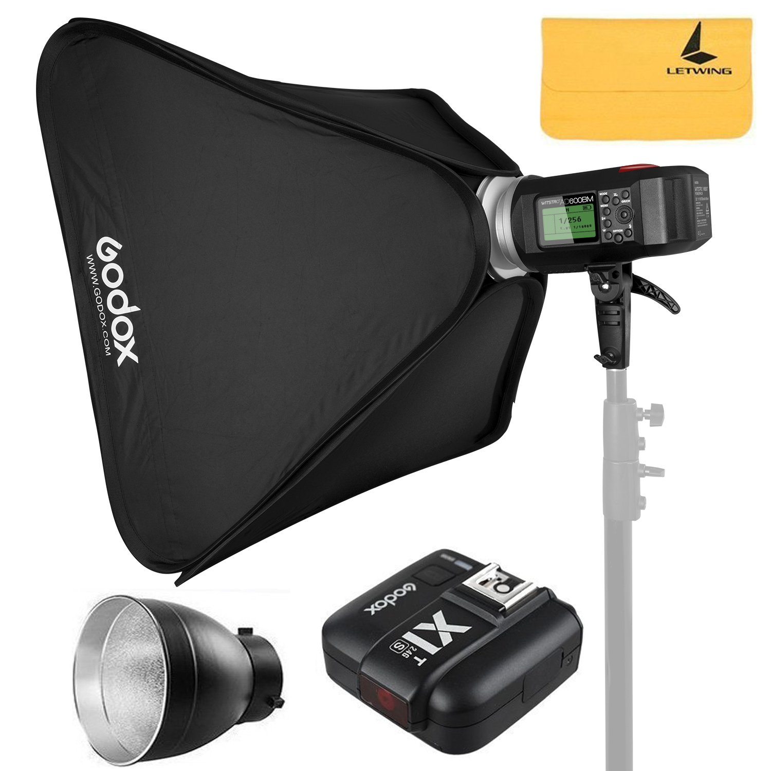 GODOX AD600BM AD Sync 1 / 8000s 2.4G Wireless Flash Light Speedlite+GODOX X1T-S Compatible Sony DSLR Cameras,AD-R6,80cmX80cm /32''X32''Softbox by Godox