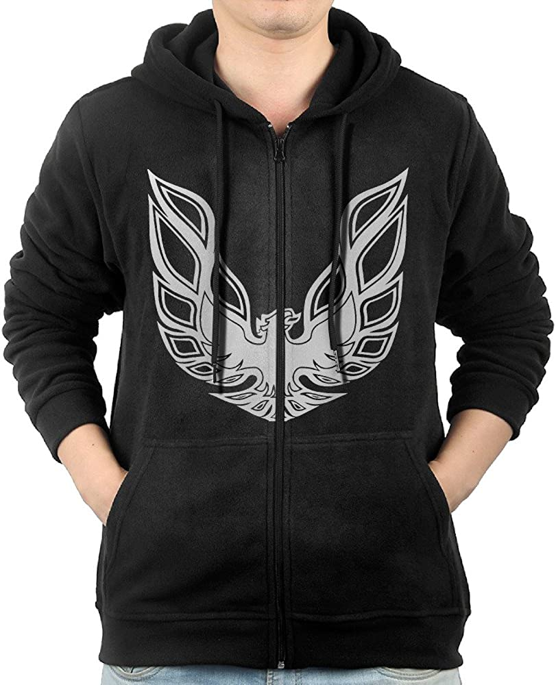 MOWJEIMGT Men Pontiac Firebird Logo GTA Trans Am Retro Hooded Sweatshirt Black