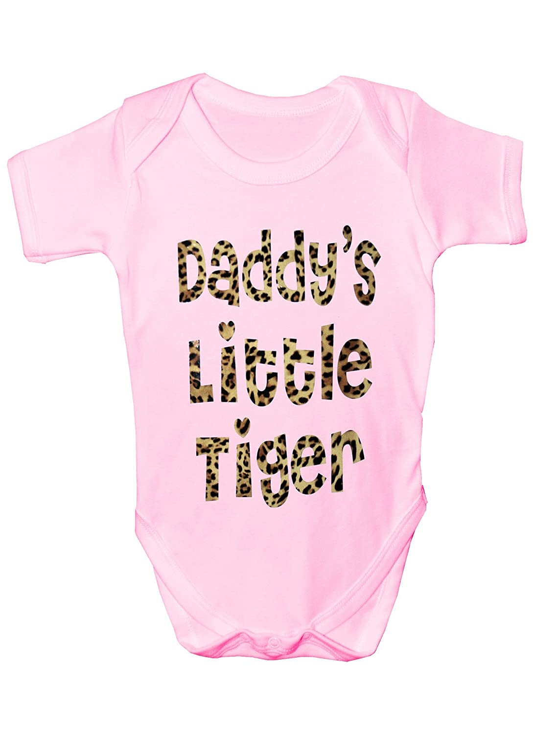 Daddy's Little Tiger In Animal Print~ Funny Babygrow Babies Gift Boy/Girl Vest