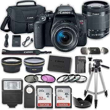 Amazon.com: Canon EOS Rebel t7i cámara réflex digital Bundle ...