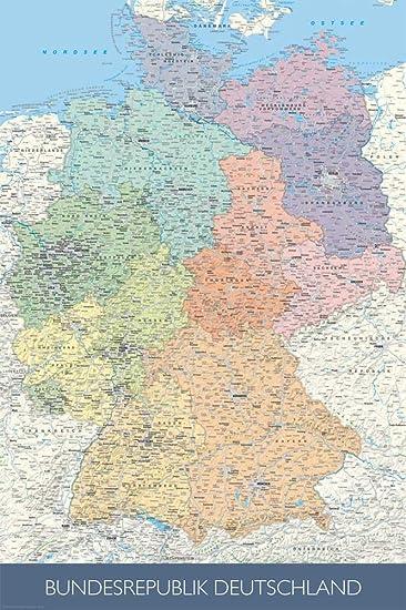karte deutschland maßstab Amazon.de: Landkarten   Politische Deutschlandkarte   Maßstab: 1/1