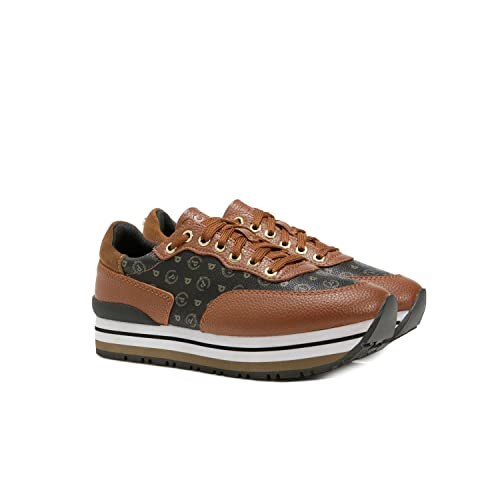 6f6881b747 Pollini Sneakers Donna TAPIRO + Vitello Marrone TA15013 217-40: Amazon.it:  Scarpe e borse