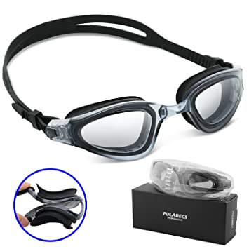 anti fog goggles  Amazon.com : Pulabecs Swimming Goggles Swim Glasses With Anti-Fog ...