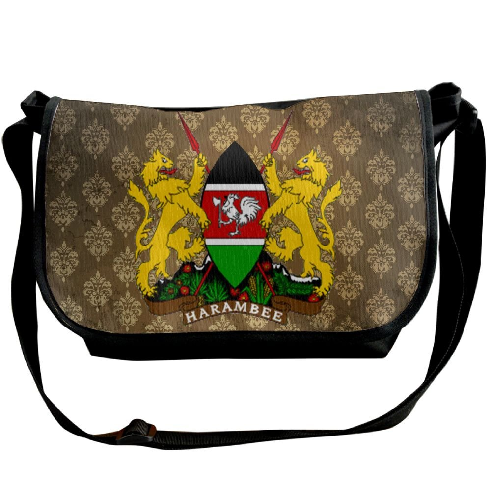 Lov6eoorheeb Unisex Coat Of Arms Of Kenya Wide Diagonal Shoulder Bag Adjustable Shoulder Tote Bag Single Shoulder Backpack For Work,School,Daily
