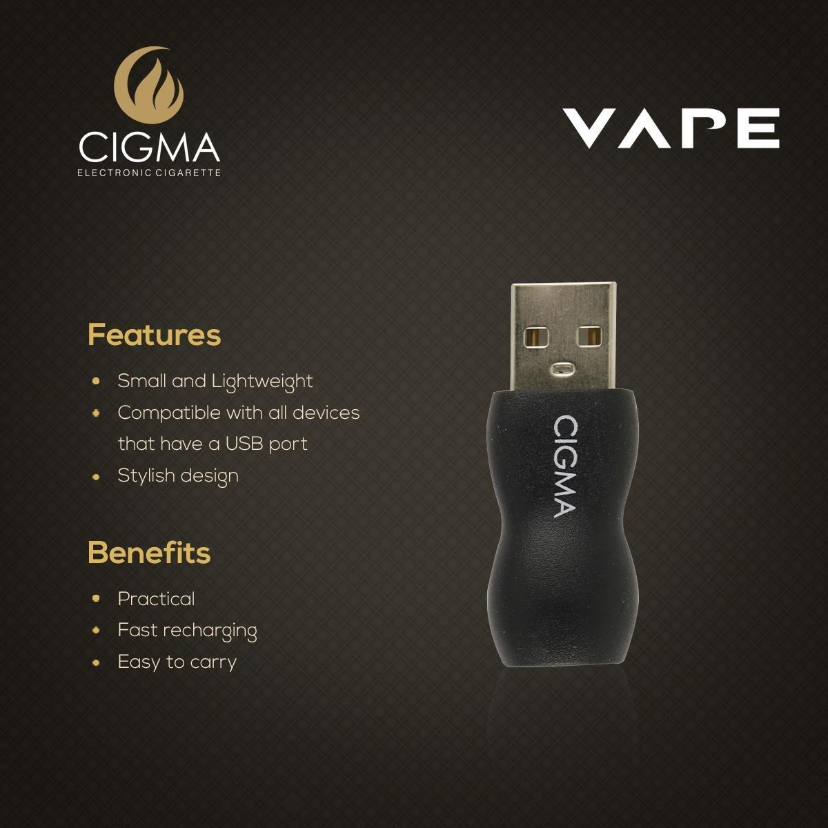 Cigma Vapeador USB para batería slim | Cargador USB | adaptador: Amazon.es: Salud y cuidado personal