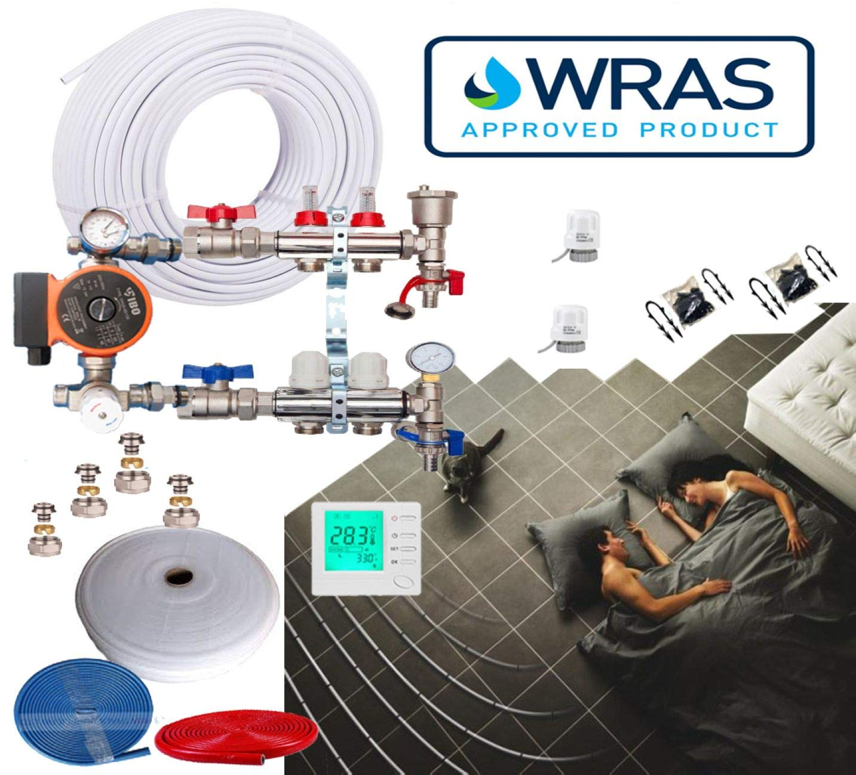 Water Underfloor Heating Kit 5 Layers Barrier Pipe 20-25m/²