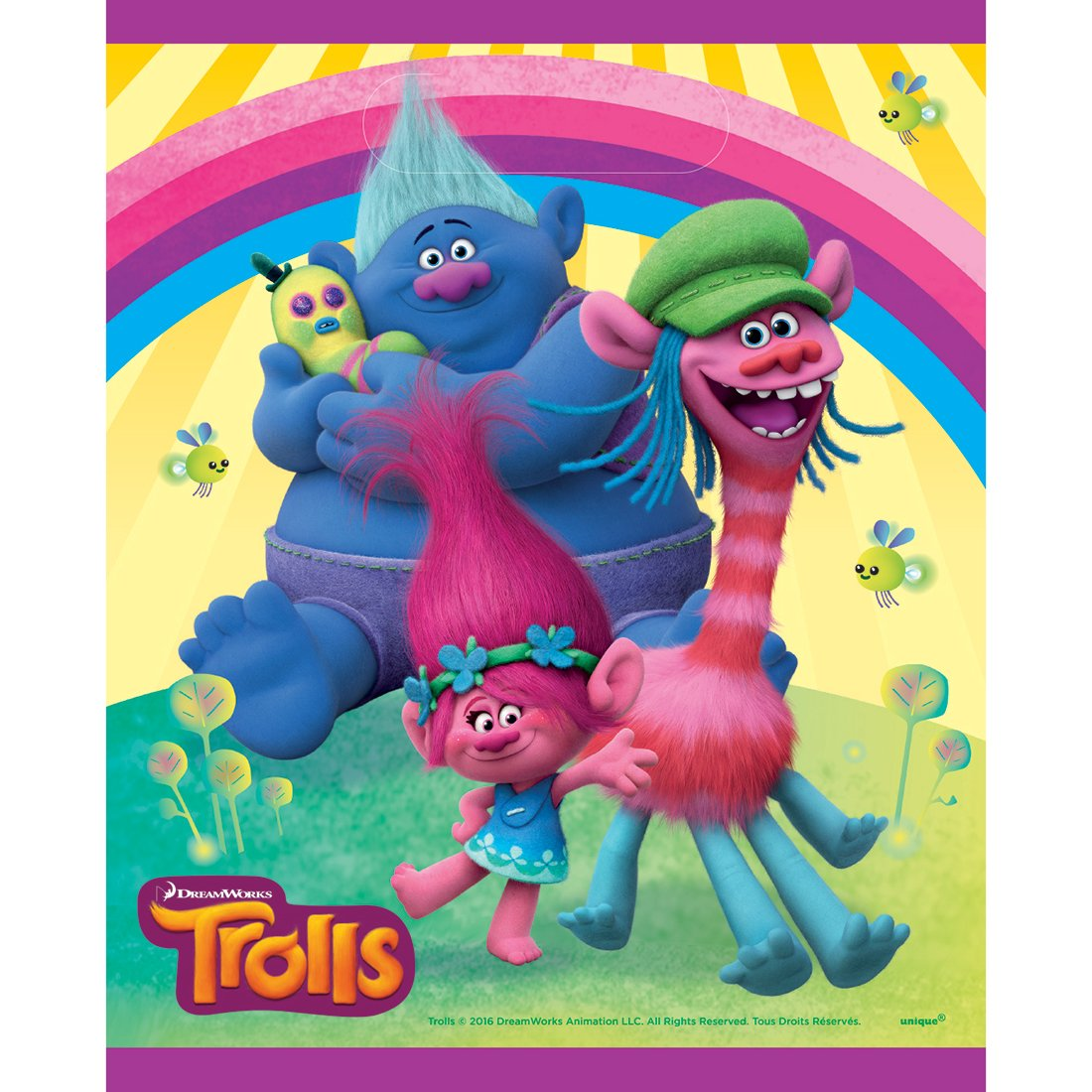 DreamWorks' Trolls Latex Balloons - Party Décor - 8 per Pack - from Fun365