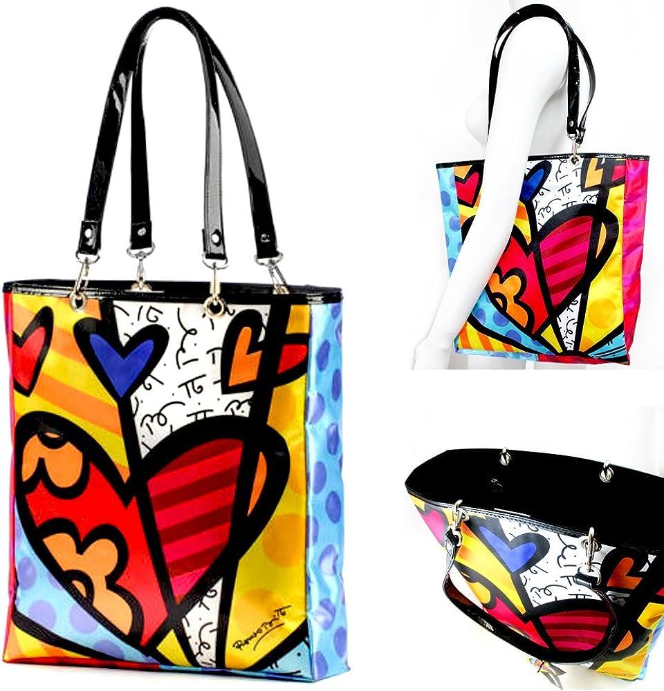 Romero Britto Medium Sized A New Day Tote Bag