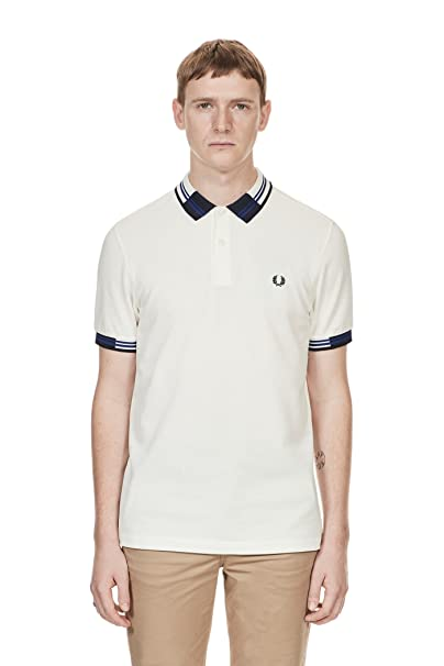 89d480c2b Fred Perry Mens Block Tipped Pique Polo Shirt  Amazon.ca  Clothing    Accessories