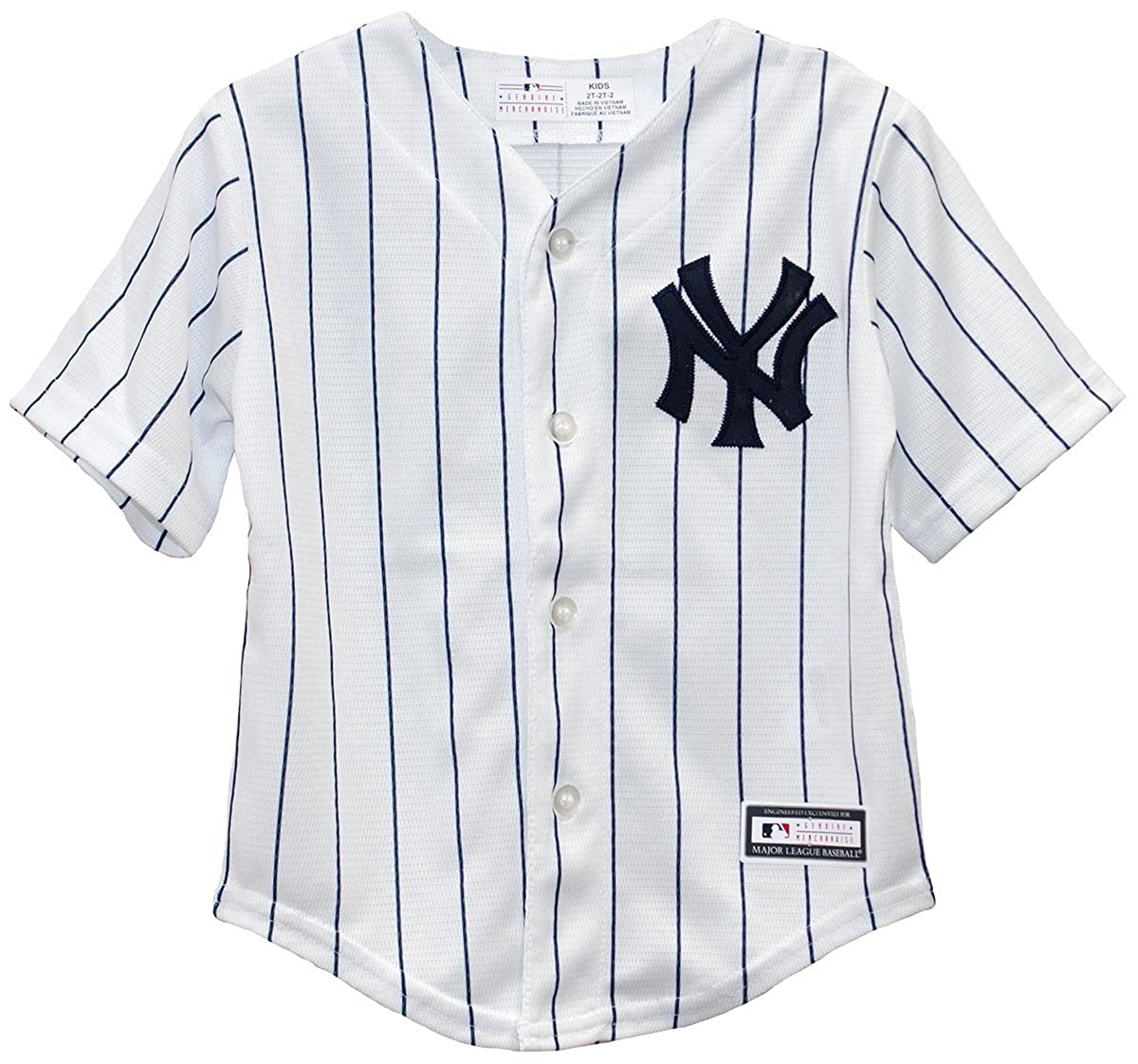 Amazon.com  New York Yankees Infant and Toddler Cool Base Home Jersey (2  Toddler)  Clothing 96a89d3e353