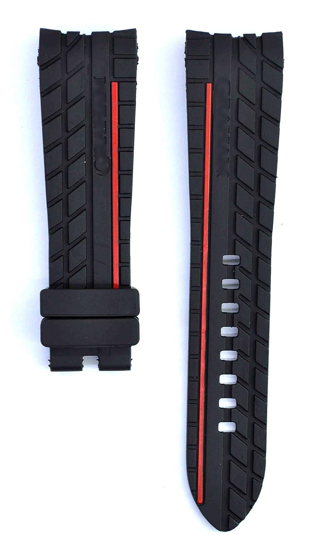 24 mm Rubber suitable forシルバーストーンRSウォッチバンドストラップ 24mm green B074WBQB58
