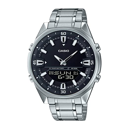 a4d49f1fbfaf Buy Casio Enticer Analog-Digital Black Dial Men s Watch - AMW-830D-1AVDF  (AD226) Online at Low Prices in India - Amazon.in