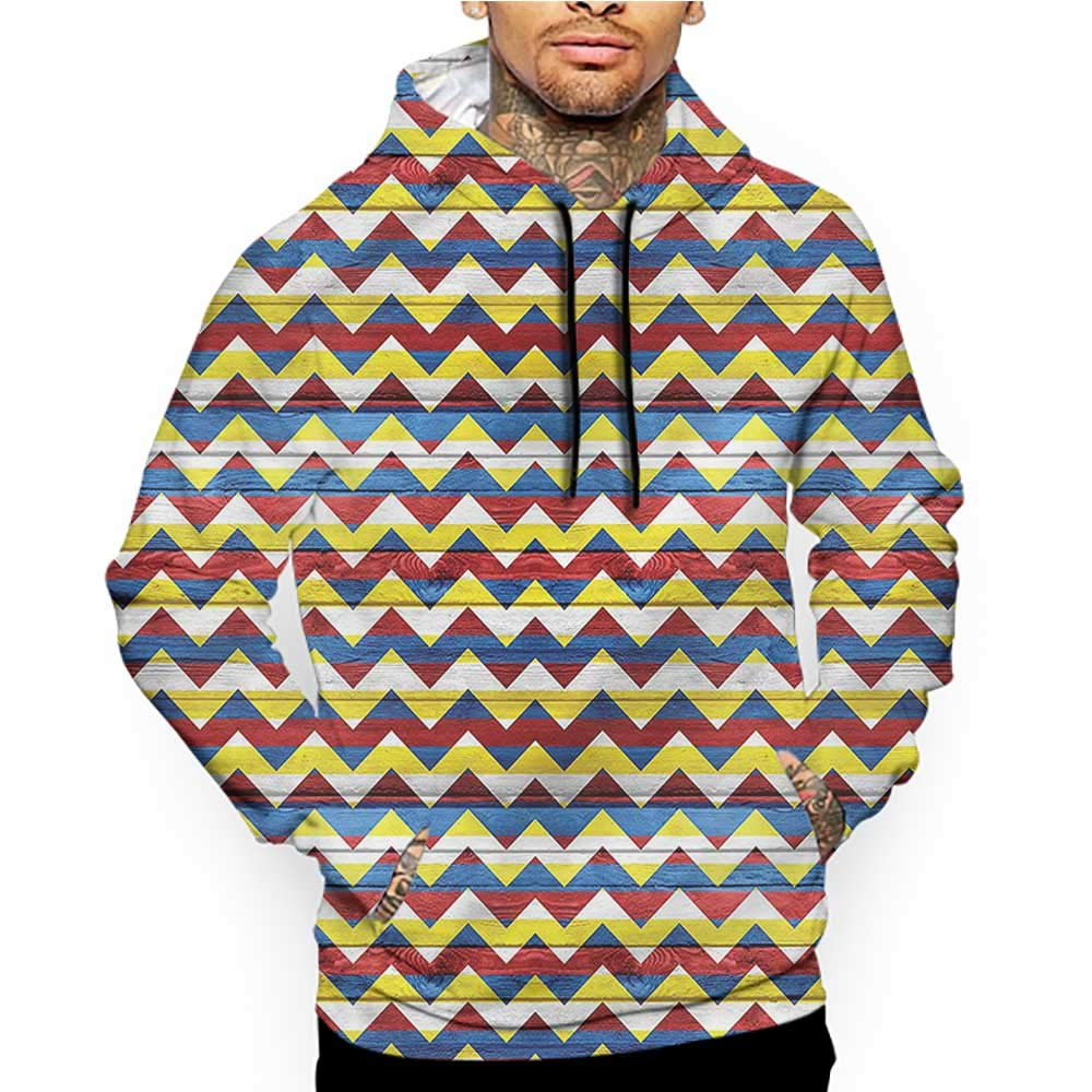 Unisex 3D Novelty Hoodies Chevron,Dark-Toned Checkered Square,Sweatshirts for Women Plus Size