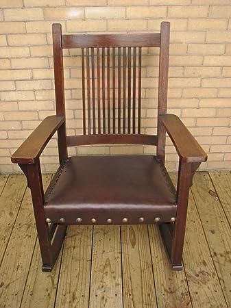 Stupendous Amazon Com Antique Ljg Stickley Spindled Rocking Chair Creativecarmelina Interior Chair Design Creativecarmelinacom