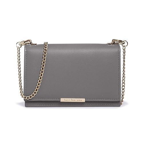 98930700c Crossbody Wallet Women PU Leather Cellphone Purse Chain Strap Nail Clipper:  Handbags: Amazon.com