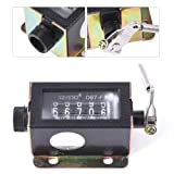 5 Digit Stroke Mechanical Counter Resettable Manual Hand Pulling Tally Counter D67-F