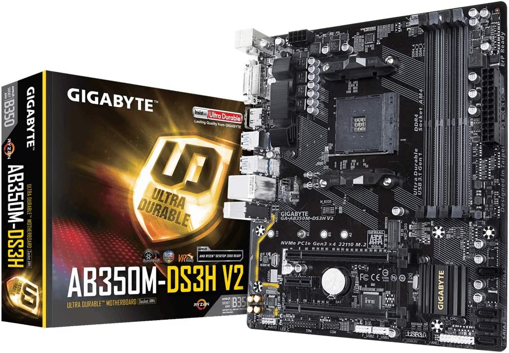 Gigabyte Ga-AB350M-DS3H V2 (Rev. 1.1) - Placa Base (AMD, Zócalo ...