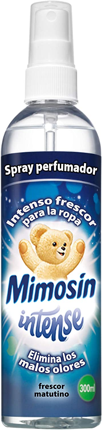 Mimosín Spray Perfumador Intense para la Ropa - 6 Recipientes de 300 ml - Total: 1800 ml