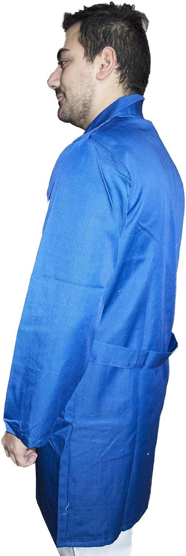 Petersabitidalavoro Camici da Lavoro Uomo Blu Royal Cotone Pesante Magazzino Meccanico Banconista