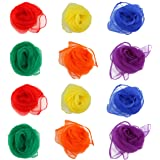 NUOLUX Rhythm Band Scarves Juggling Dance Scarves 12pcs (Assorted Color)