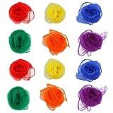 NUOLUX Rhythm Band Hemmed Square Juggling Dance Scarves 12pcs (Random Color)