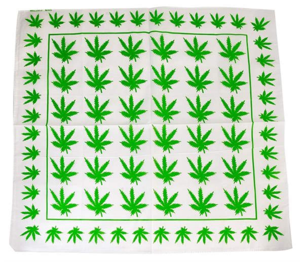 Marijuana Hemp Leaf Logo 420 Weed Bandana