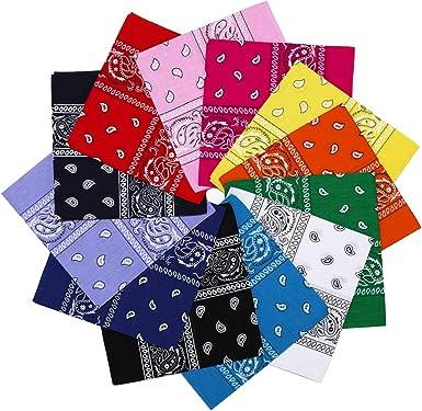 "12color LOT OF 12Pcs Bandana Big Size 27/""x27/""  Head Wrap Scarf 100/% Cotton ."