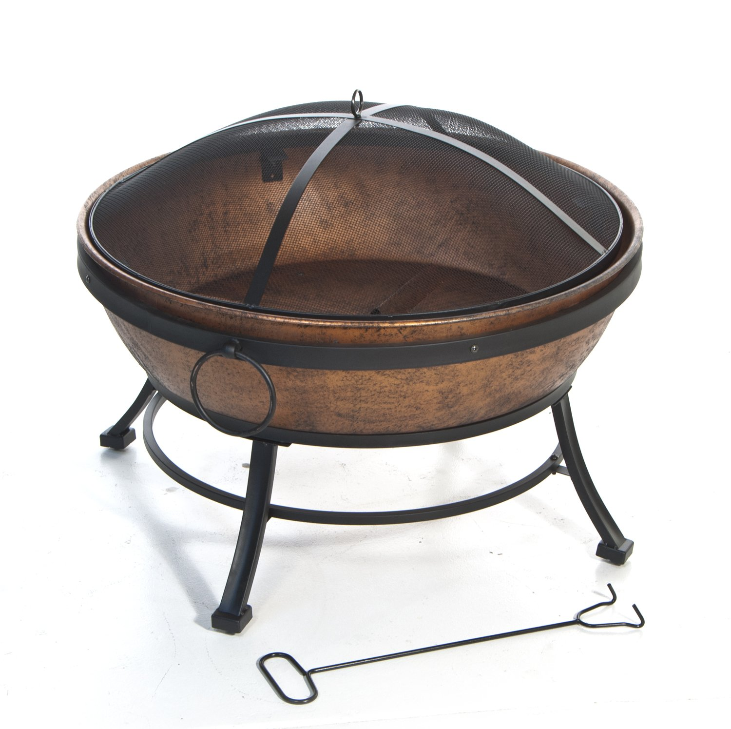 DeckMate 991049 Kay Home Product'S Avondale Steel Fire Bowl, Copper Colored by DeckMate