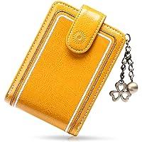 SENDEFN Tarjeteros para Tarjetas de Credito Mujer de Cuero con Cremallera de Bloqueo RFID Billetera pequeña con 13…