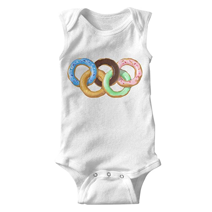 Amazon.com  IOxje Funny Donut Gym Olympic Rings Unisex Onesies Baby Girl  Funny Baby Clothes  Clothing 20cf141f6