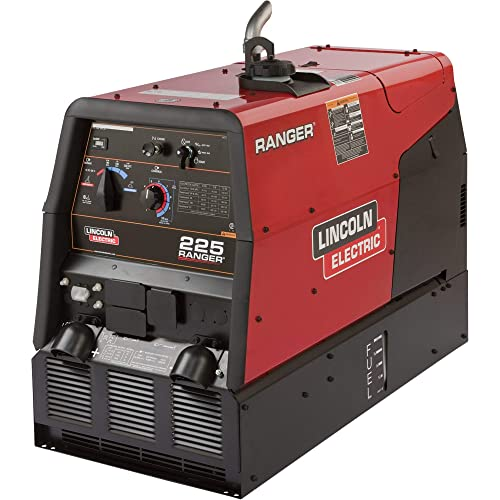 Lincoln Electric Ranger 225 Multi-Process Welder Generator with Kohler 23 HP Gas Engine and Electric Start – 20-225 Amp DC Output, 10,500 Watt AC Power, Model Number K2857-1