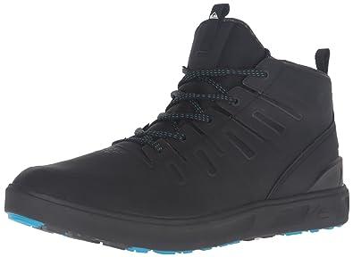 Quiksilver Men's Patrol Mid Water Resistant Boot, Black/Black/White, 6 M