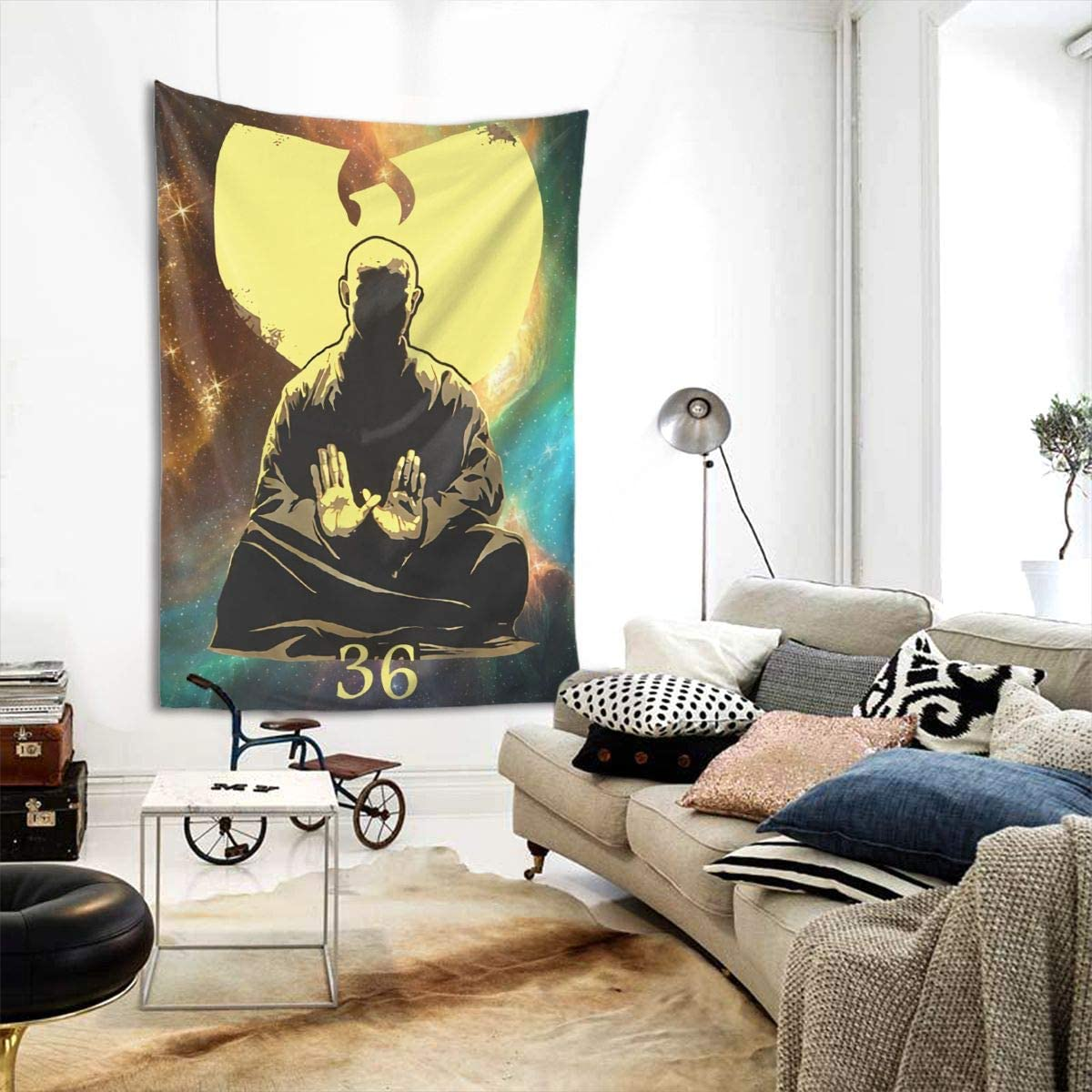 Wu Tang Clan Art Print Tapestry Hippie Cotton Printed Wall Hanging Wall Tapestries Dorm Room Decor