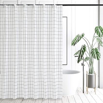 Mosaic Decoration Morden Pattern Shower Curtain Anti-Bacterial Waterproof