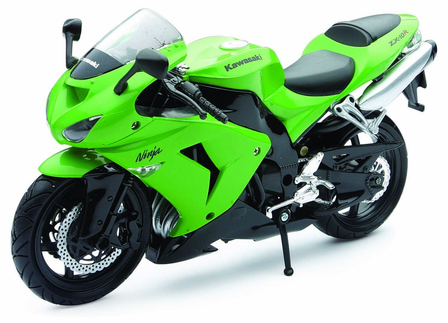 Amazon.com: NewRay 1:12 Motorcycle 2006 Kawasaki Zx-10R-Sport Bike ...