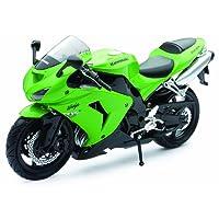 New Ray 42443 A - Moto Kawasaki ZX 10 R, Veicolo in miniatura, Scala 1:12, Colore Verde
