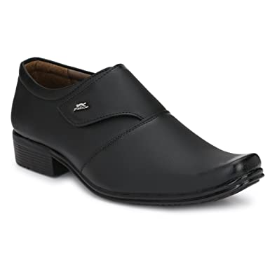 Fashion World Men's Faux Leather Black Formal Shoes (1031) Best Office Shoes