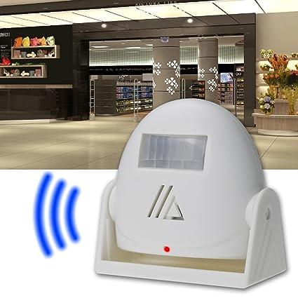Surwin Timbre de Puerta Alarma Alarma Anunciador Detector De Visitas Alarma de movimiento mediante sensor de