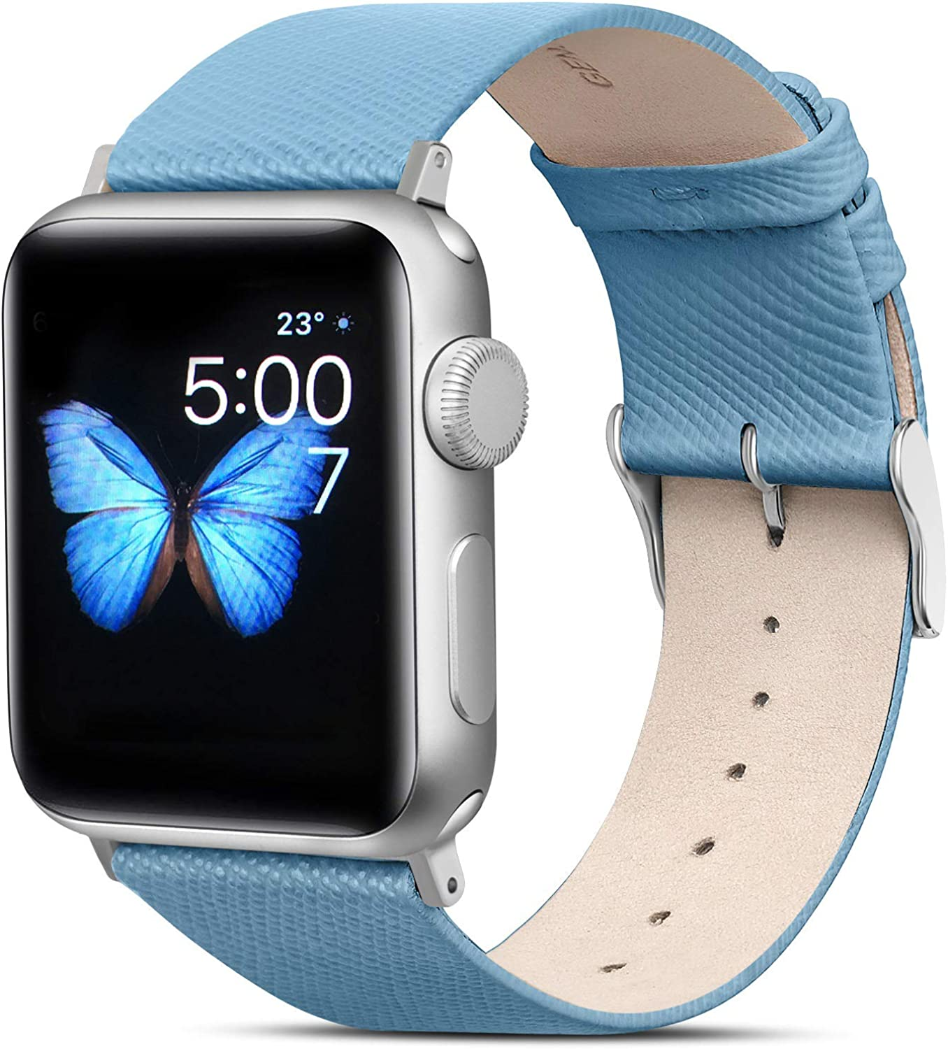 FITWORTH Aroma Series, High End Genuine Leather Band Compatible with Apple Watch 38/40, Thin & Light, Urban Fashion Style for Professional Women