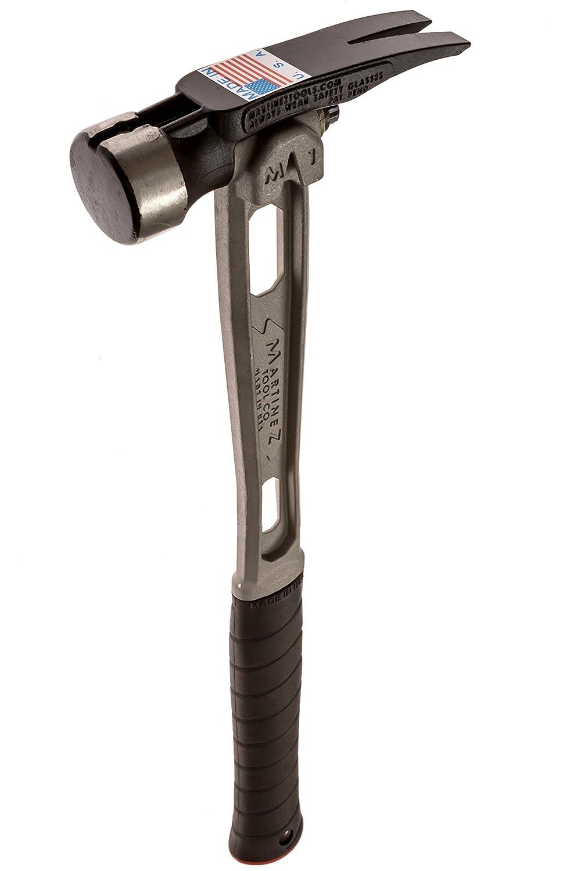 Martinez Tools M1 Titanium Handle 15oz Smooth Steel Head Straight ...