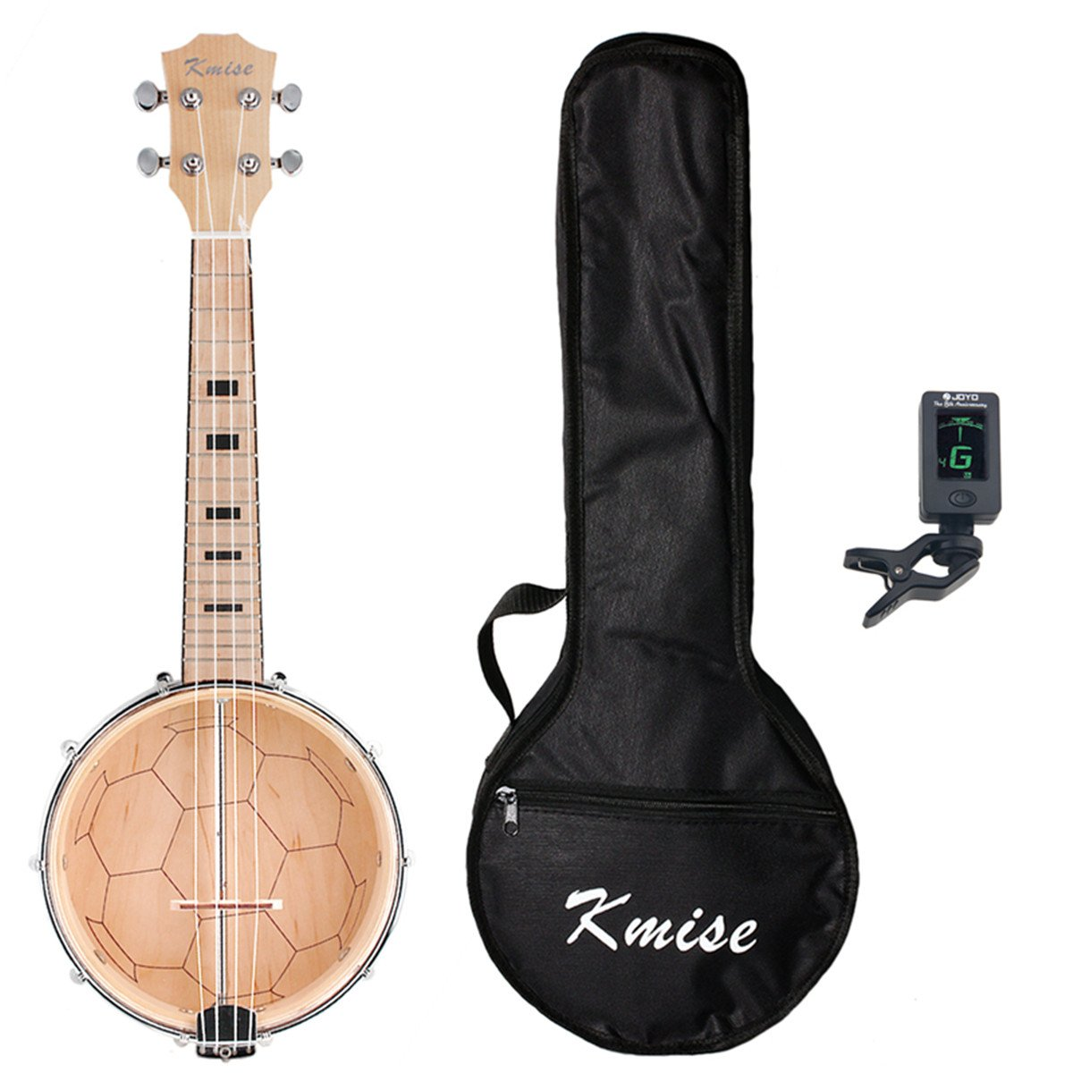 Kmise Banjolele Banjo Ukulele Ukelele Uke With Bag Tuner Concert 4 String 23 Inch Maple Wood Ltd