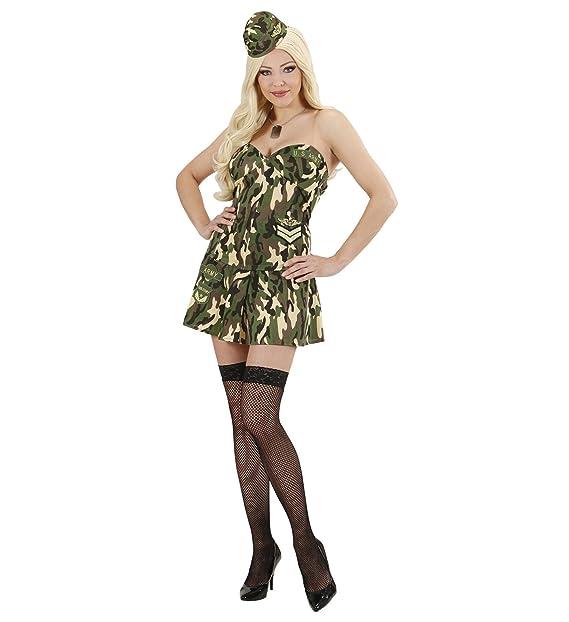 f1ac0f827628 WIDMANN Costume Carnevale Donna Soldatessa Militare *22905: Amazon.it:  Abbigliamento
