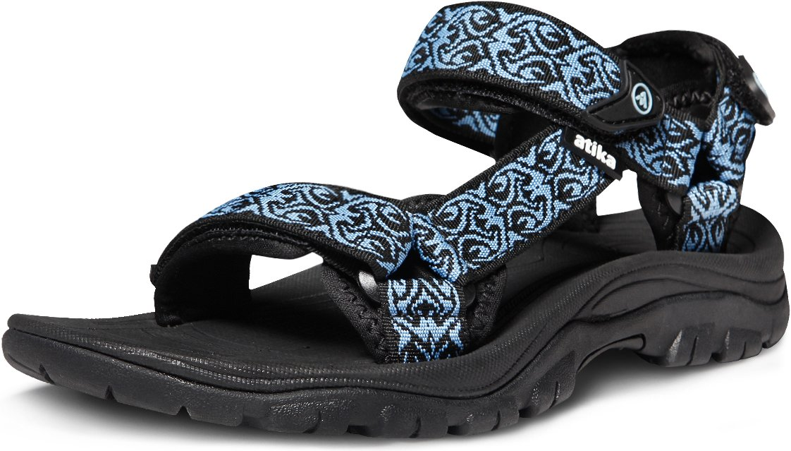 ATIKA Women's Maya Trail Outdoor Water Shoes Sport Sandals, Maya(w111) - Black & Blue, 8