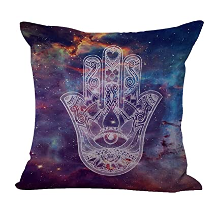 Amazing Protective Symbol Hamsa Galaxy Cushion Cover Replacement Patio Cushion  Covers